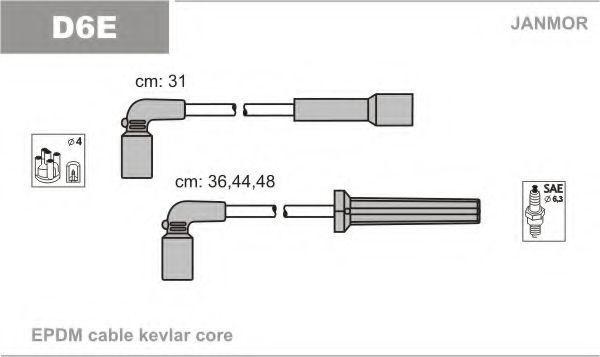 Провода высоковольтные комплект JANMOR D6E
