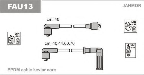 Провода высоковольтные комплект JANMOR FAU13