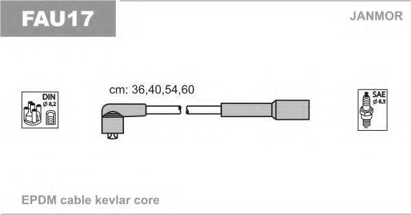 Провода высоковольтные комплект JANMOR FAU17