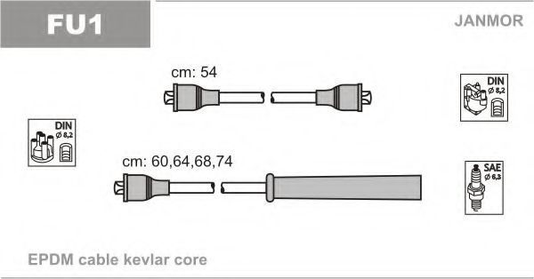 Провода высоковольтные комплект JANMOR FU1