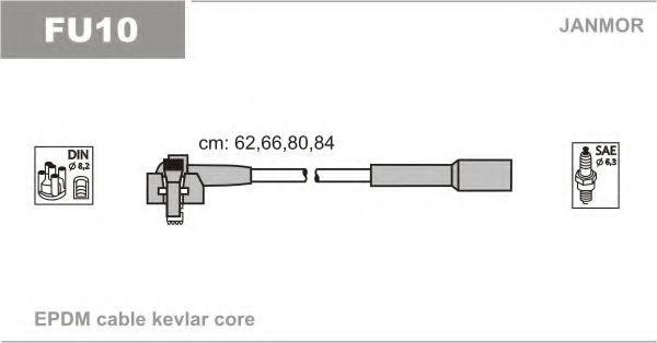 Провода высоковольтные комплект JANMOR FU10