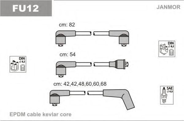 Провода высоковольтные комплект JANMOR FU12