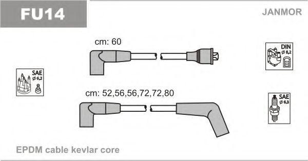 Провода высоковольтные комплект JANMOR FU14