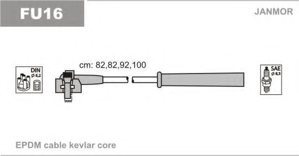 Провода высоковольтные комплект JANMOR FU16