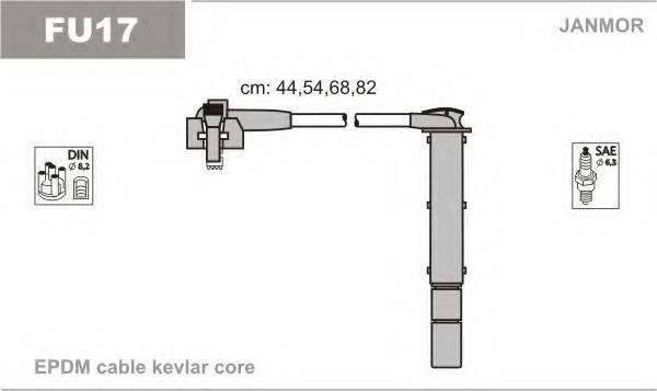 Провода высоковольтные комплект JANMOR FU17