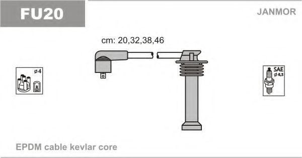 Провода высоковольтные комплект JANMOR FU20