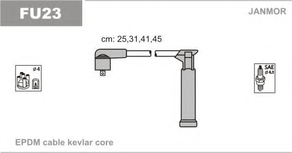 Провода высоковольтные комплект JANMOR FU23