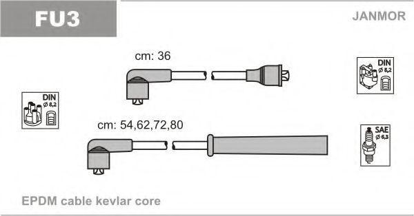 Провода высоковольтные комплект JANMOR FU3