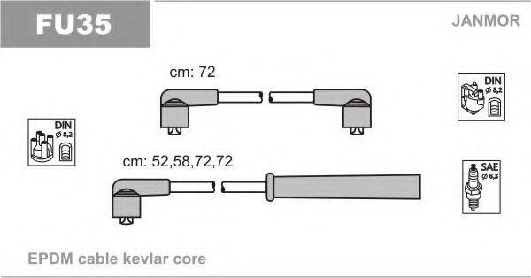 Провода высоковольтные комплект JANMOR FU35