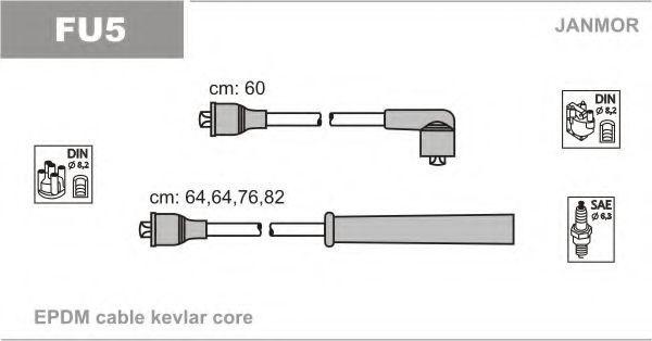 Провода высоковольтные комплект JANMOR FU5