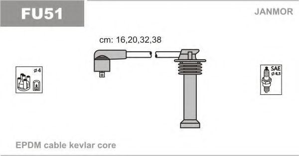 Провода высоковольтные комплект JANMOR FU51
