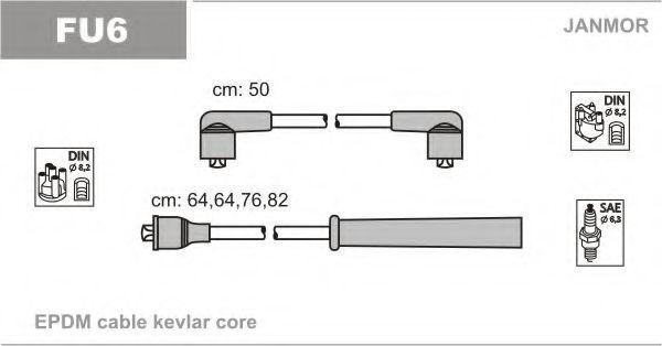 Провода высоковольтные комплект JANMOR FU6