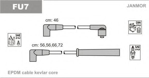 Провода высоковольтные комплект JANMOR FU7