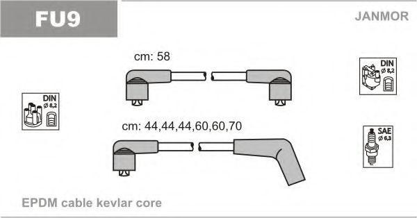 Провода высоковольтные комплект JANMOR FU9