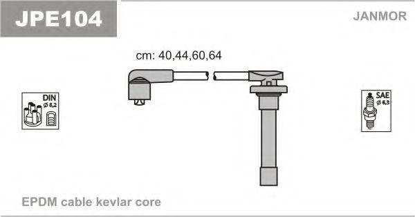 Провода высоковольтные комплект JANMOR JPE104