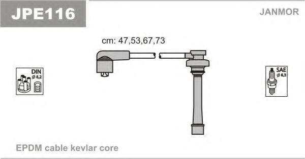 Провода высоковольтные комплект JANMOR JPE116
