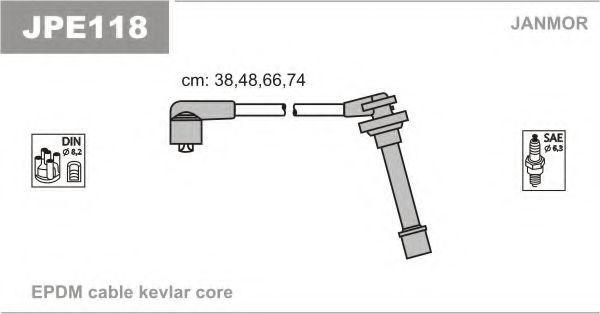 Провода высоковольтные комплект JANMOR JPE118