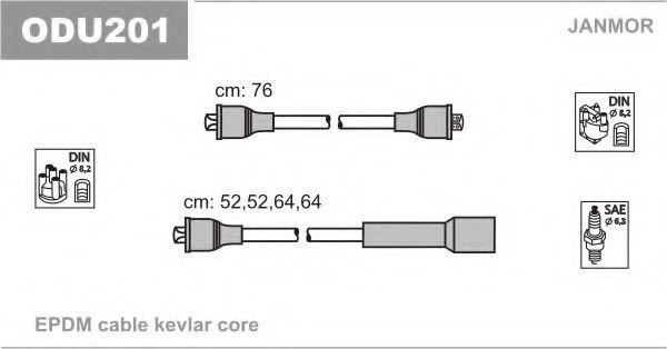 Провода высоковольтные комплект JANMOR ODU201