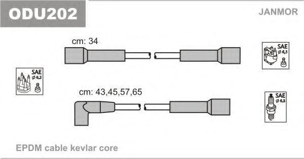 Провода высоковольтные комплект JANMOR ODU202
