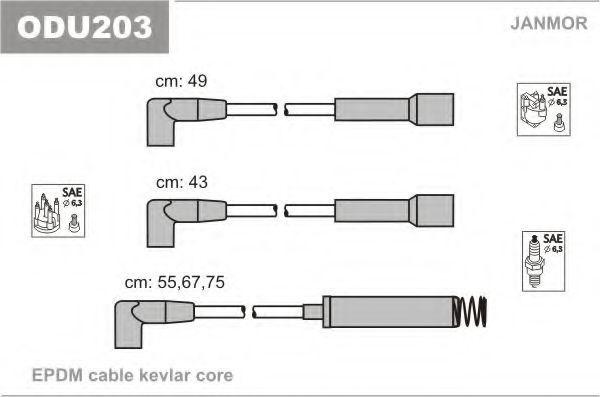 Провода высоковольтные комплект JANMOR ODU203