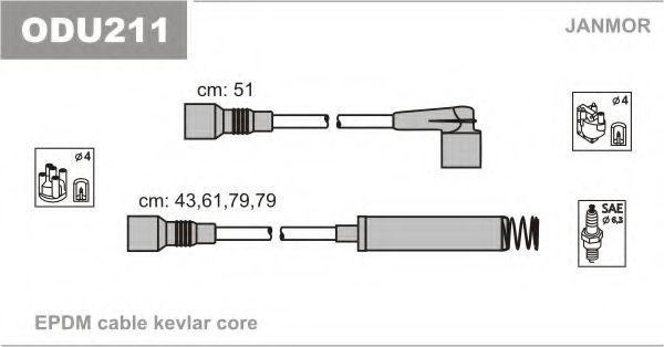 Провода высоковольтные комплект JANMOR ODU211