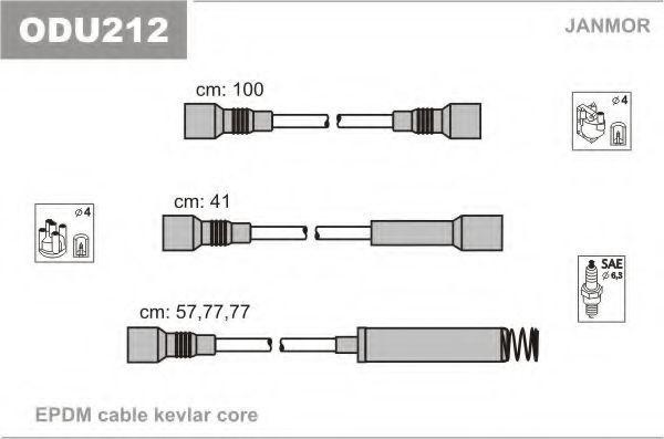 Провода высоковольтные комплект JANMOR ODU212