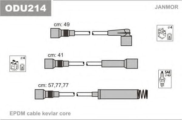 Провода высоковольтные комплект JANMOR ODU214