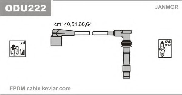 Провода высоковольтные комплект JANMOR ODU222