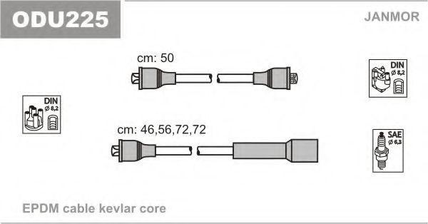 Провода высоковольтные комплект JANMOR ODU225