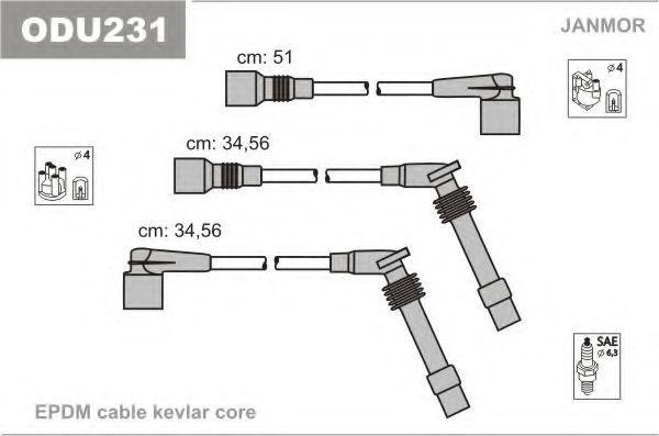 Провода высоковольтные комплект JANMOR ODU231