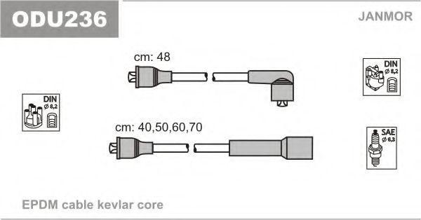 Провода высоковольтные JANMOR ODU236