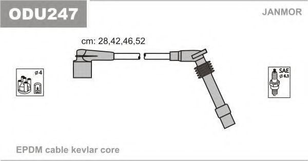 Провода высоковольтные комплект JANMOR ODU247