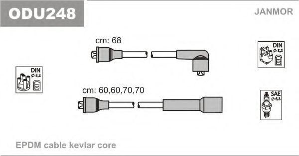Комплект проводов зажигания JANMOR ODU248