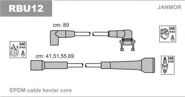 Провода высоковольтные JANMOR RBU12