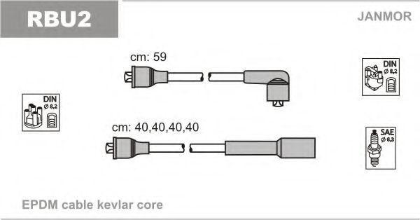 Провода высоковольтные комплект JANMOR RBU2
