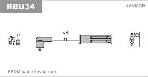 Провод высоковольтный JANMOR RBU34