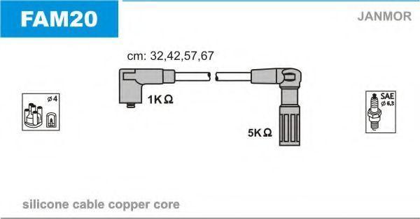 Провода высоковольтные комплект JANMOR FAM20