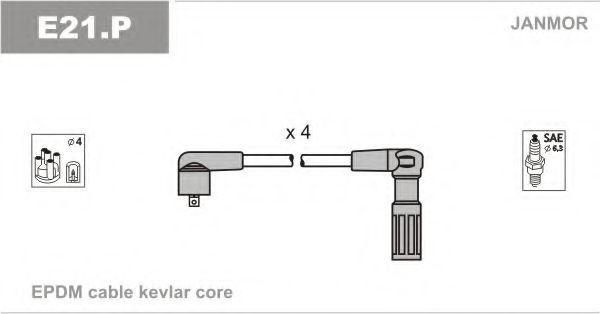Комплект проводов зажигания JANMOR E21P