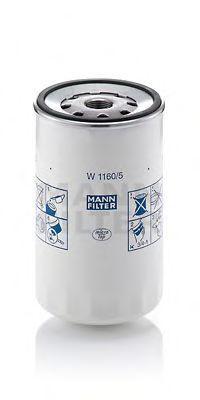 Фильтр масляный MANN W1160/5