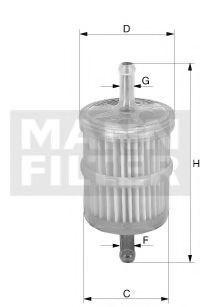 Топливный фильтр MANN WK444