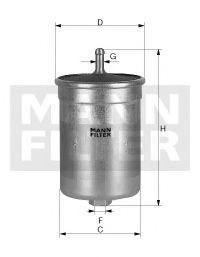 Фильтр топливный MANN WK 818