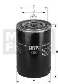 Масляный фильтр MANN WP931