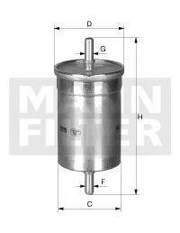 Топливный фильтр MANN WK483