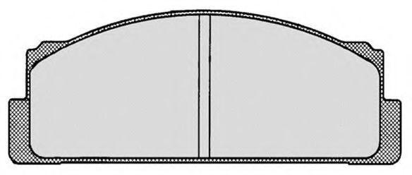 Комплект тормозных колодок, дисковый тормоз RAICAM RA00201