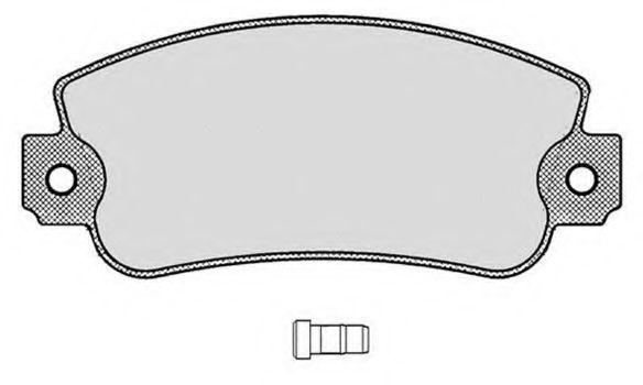 Колодки тормозные RAICAM RA02500