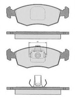 Колодки тормозные RAICAM RA03184