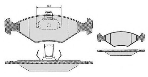 Колодки тормозные RAICAM RA03316