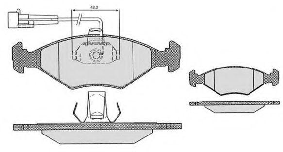 Колодки тормозные RAICAM RA03317