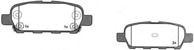 Комплект тормозных колодок, дисковый тормоз RAICAM RA05260