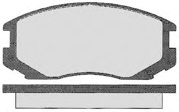 Комплект тормозных колодок, дисковый тормоз RAICAM RA06360